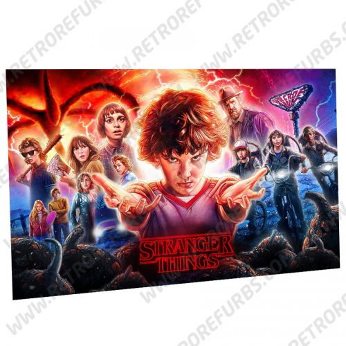 Stranger Things (Season 2) Alternate Pinball Translite Backglass Flipper Display by Retro Refurbs
