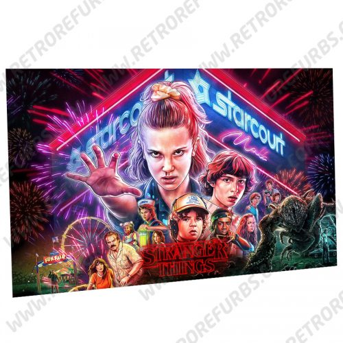 Stranger Things (Season 3) Alternate Pinball Translite Backglass Flipper Display by Retro Refurbs