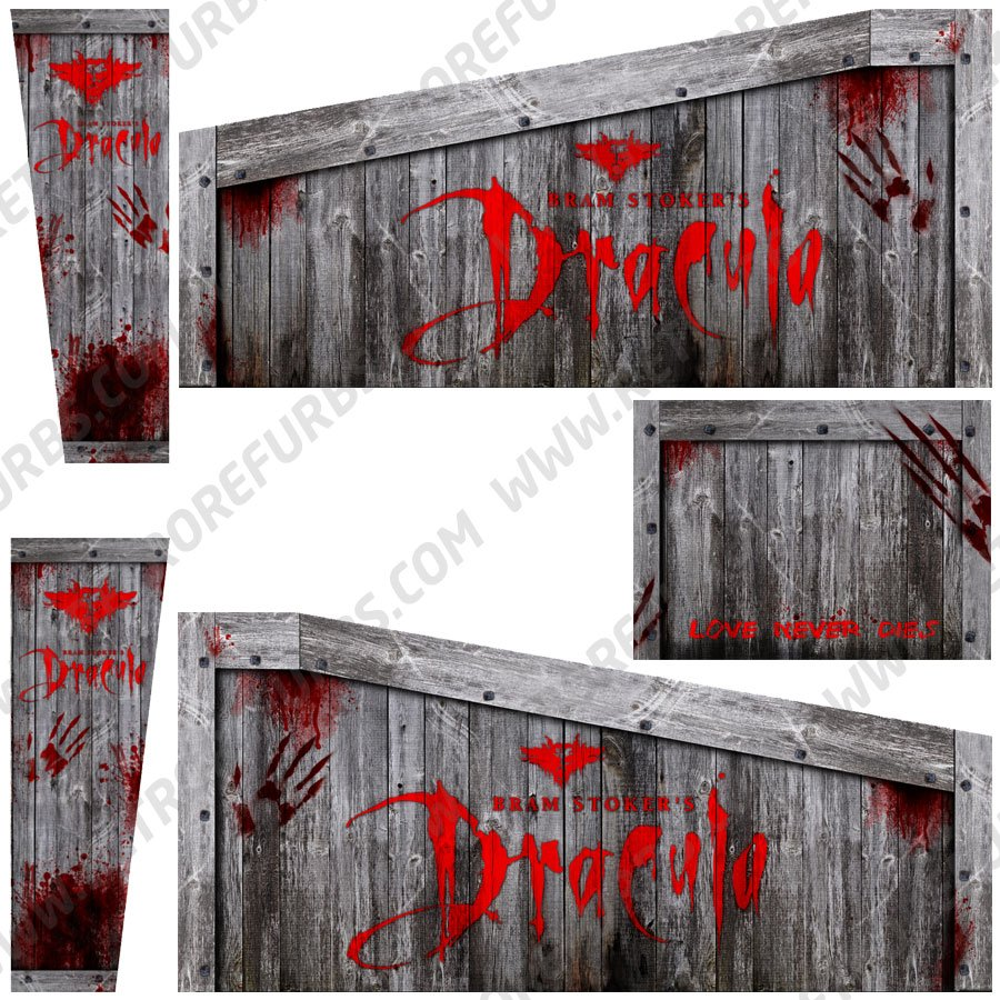 Bram Stoker's Dracula Crate Alternate Pinball Cabinet Decals Flipper Side Art