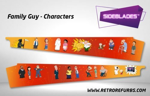 Family Guy Characters Pinball Sideblades Inside Inner Art Decals Sideboard Art Pin Blades