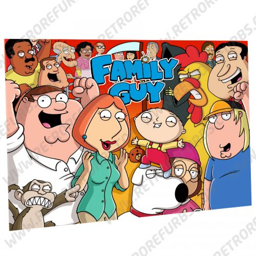 Family Guy Alternate Pinball Translite Backglass Flipper Display by Retro Refurbs