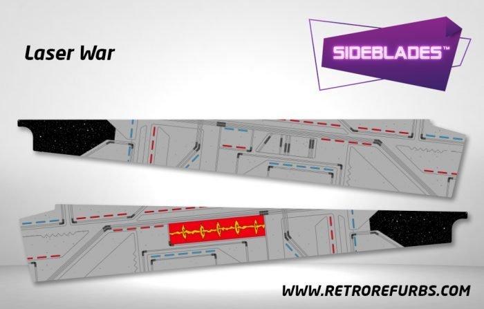 Laser War Pinball Sideblades Inside Inner Art Decals Sideboard Art Pin Blades