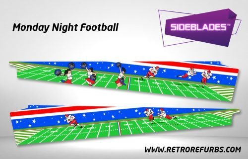 Monday Night Football Pinball Sideblades Inside Inner Art Decals Sideboard Art Pin Blades