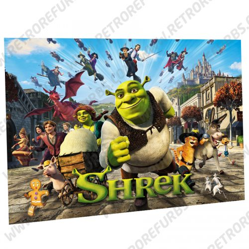 Shrek Alternate Pinball Translite Backglass Flipper Display by Retro Refurbs