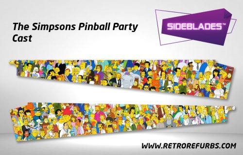 The Simpsons Pinball Party Cast Pinball Sideblades Inside Inner Art Decals Sideboard Art Pin Blades