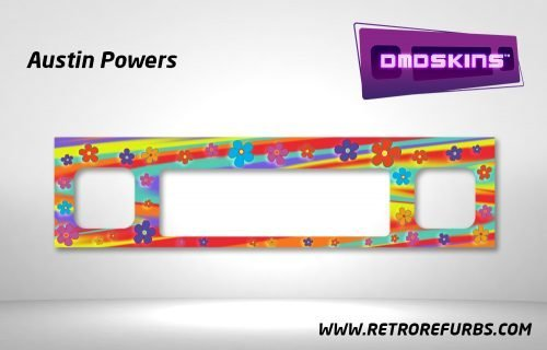 Austin Powers Pinball DMDSkin Speaker Panel Overlay DMD Artwork Decal