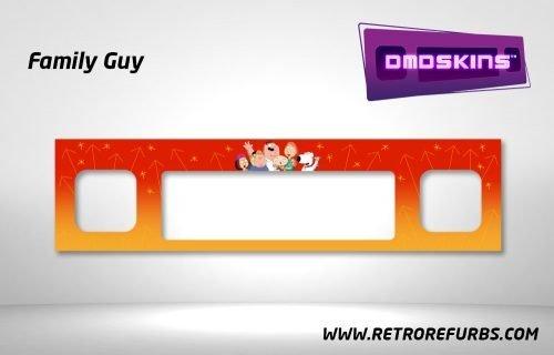 Family Guy Pinball DMDSkin Speaker Panel Overlay DMD Artwork Decal