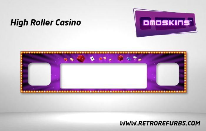 High Roller Casino Pinball DMDSkin Speaker Panel Overlay DMD Artwork Decal