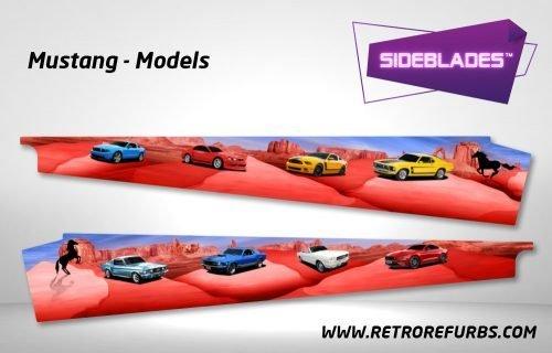 Mustang Models Pinball Sideblades Inside Inner Art Decals Sideboard Art Pin Blades