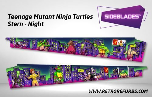 Teenage Mutant Ninja Turtles Night Stern Pinball Sideblades Inside Inner Art Decals Sideboard Art Pin Blades