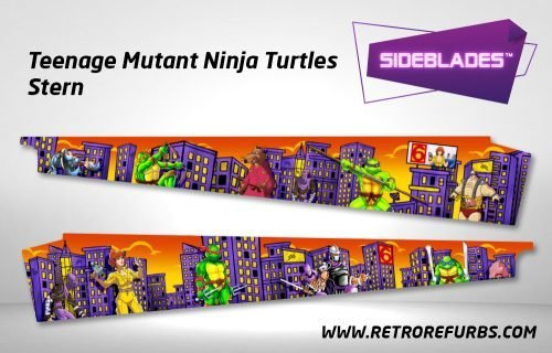 Teenage Mutant Ninja Turtles Stern Pinball Sideblades Inside Inner Art Decals Sideboard Art Pin Blades