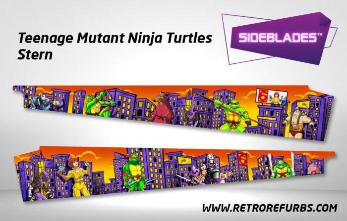 Teenage Mutant Ninja Turtles Stern Pinball Sideblades Inside Inner Art Decals Sideboard Art Pin Blades
