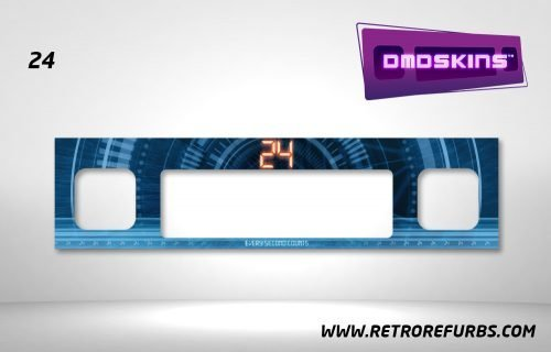 24 Pinball DMDSkin Speaker Panel Overlay DMD Artwork Decal