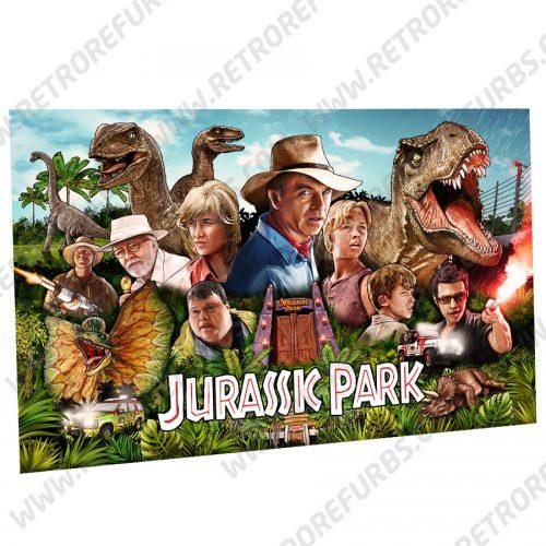 Stern Jurassic Park Blue Sky Hand Drawn Line Art Dreams Alternate Pinball Translite Alternative Flipper Backglass