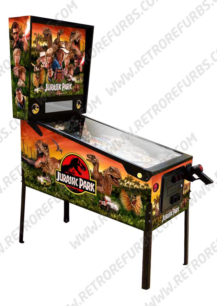 Jurassic Park Sunset Orange Sky Cabinet Decals Preview