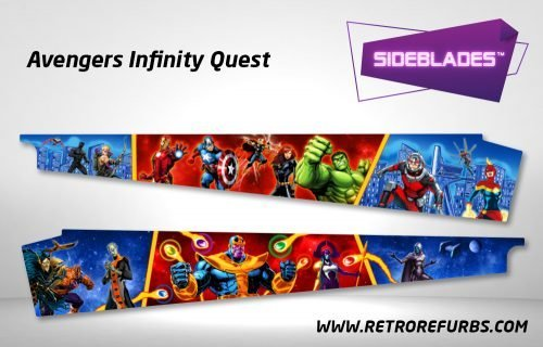 Avengers Infinity Quest Pinball Sideblades Inside Inner Art Decals Sideboard Art Pin Blades