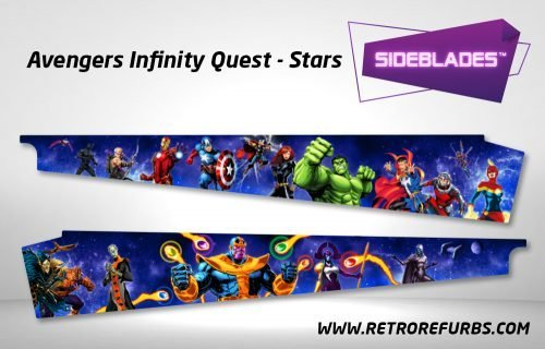 Avengers Infinity Quest Stars Pinball Sideblades Inside Inner Art Decals Sideboard Art Pin Blades