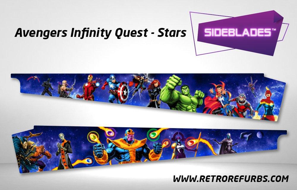 Avengers Infinity Quest Stars Pinball Sideblades Inside Inner Art Decals Sideboard Art Pin Blades