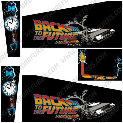 Back To The Future Black Alternate Pinball Cabinet Decals Flipper Side Art Data East