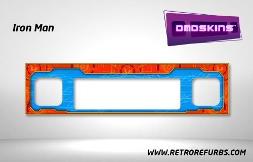 Iron Man Pinball DMDSkin Speaker Panel Overlay DMD Artwork Decal
