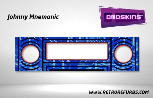 Johnny Mnemonic Pinball DMDSkin Speaker Panel Overlay DMD Artwork Decal