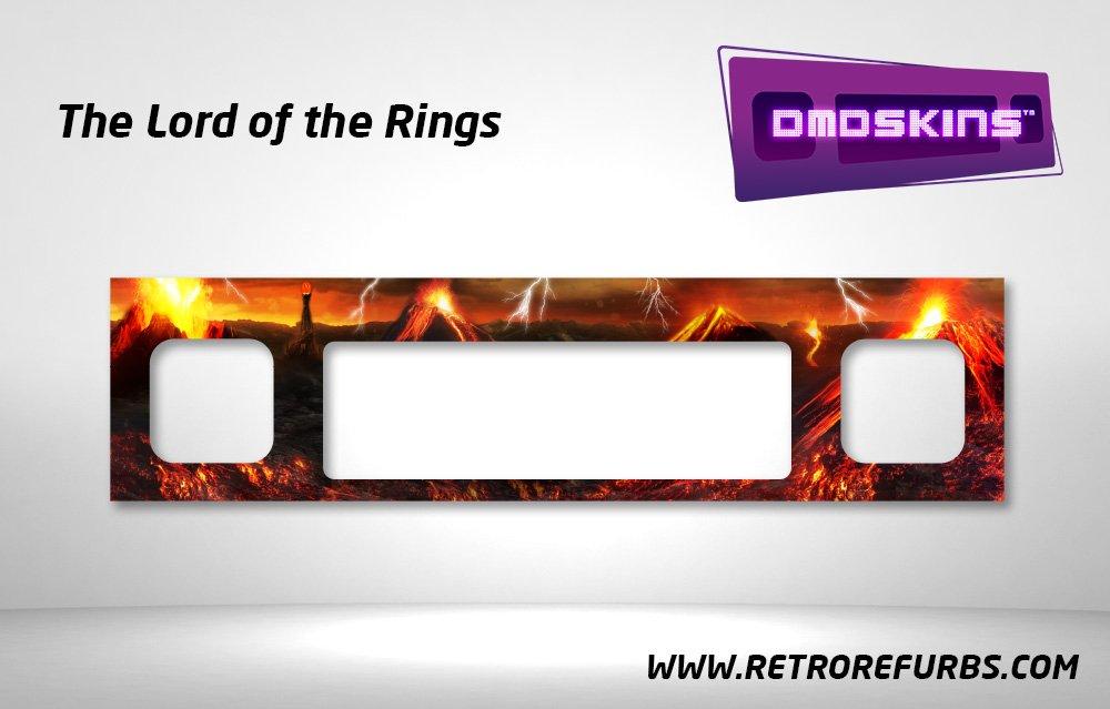 Lord of the Rings Pinball DMDSkin Speaker Panel Overlay DMD Artwork Decal