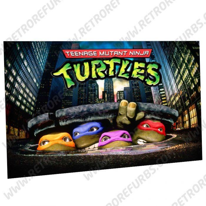 Teenage Mutant Ninja Turtles Stern Alternate Pinball Translite Backglass Flipper Display by Retro Refurbs