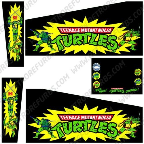 Teenage Mutant Ninja Turtles Black Alternate Pinball Cabinet Decals Flipper Side Art Data East