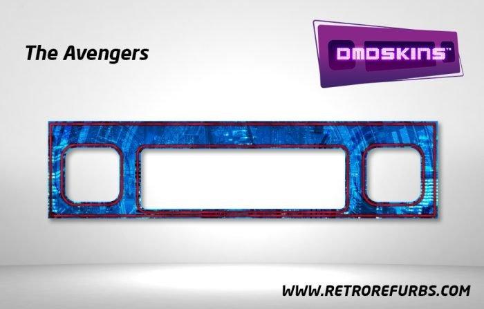 The Avengers Pinball DMDSkin Speaker Panel Overlay DMD Artwork Decal