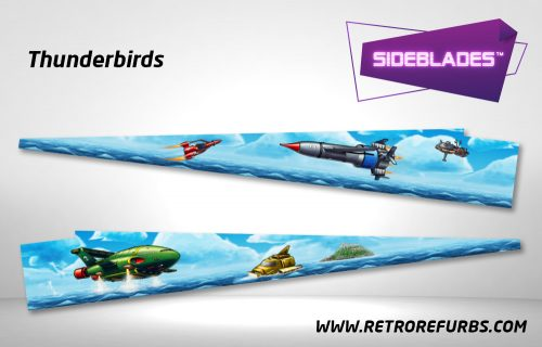 Thunderbirds Pinball Sideblades Inside Inner Art Decals Sideboard Art Pin Blades