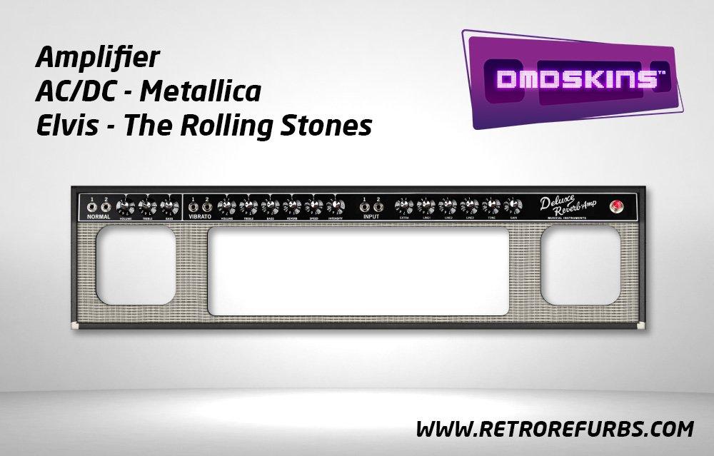 Amplifier Pinball DMDSkin Speaker Panel Overlay DMD Artwork Decal