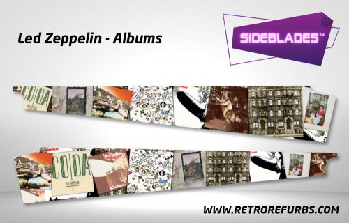 Led Zeppelin Albums Pinball Sideblades Inside Inner Art Decals Sideboard Art Pin Blades