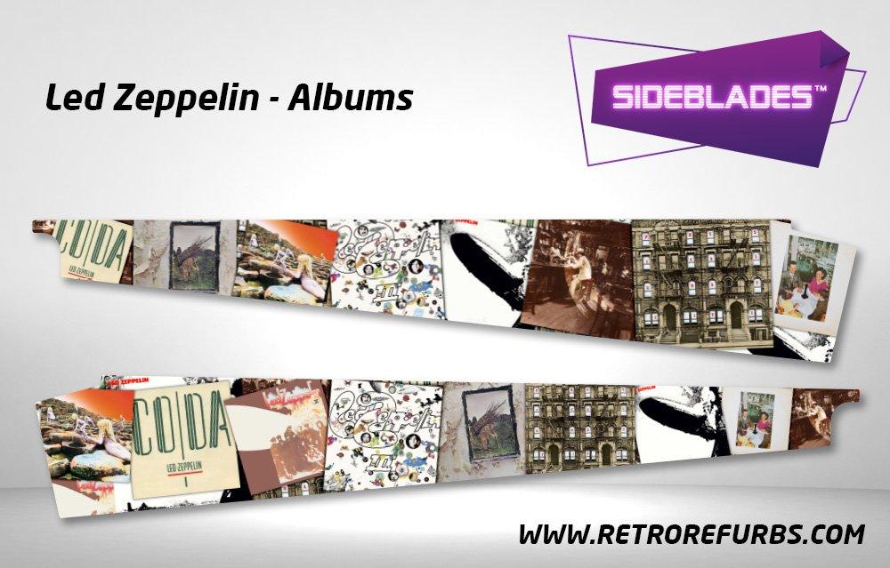 Led Zeppelin Albums Pinball Sideblades Inside Inner Art Decals Sideboard Art Pin Blades