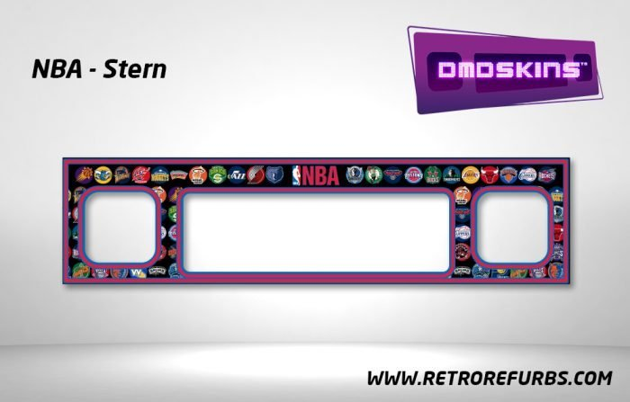 NBA Stern Pinball DMDSkin Speaker Panel Overlay DMD Artwork Decal