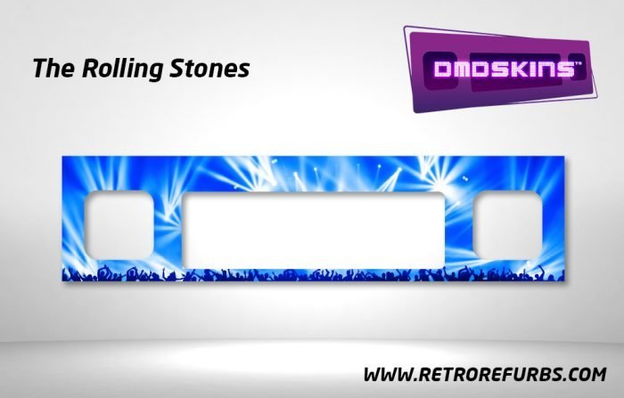 The Rolling Stones Pinball DMDSkin Speaker Panel Overlay DMD Artwork Decal