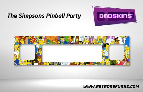The Simpsons Pinball Party Avengers Pinball DMDSkin Speaker Panel Overlay DMD Artwork Decal