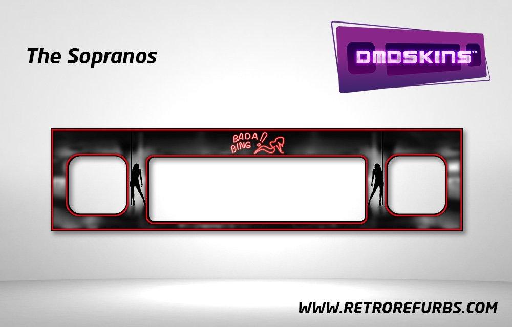The Sopranos Pinball DMDSkin Speaker Panel Overlay DMD Artwork Decal