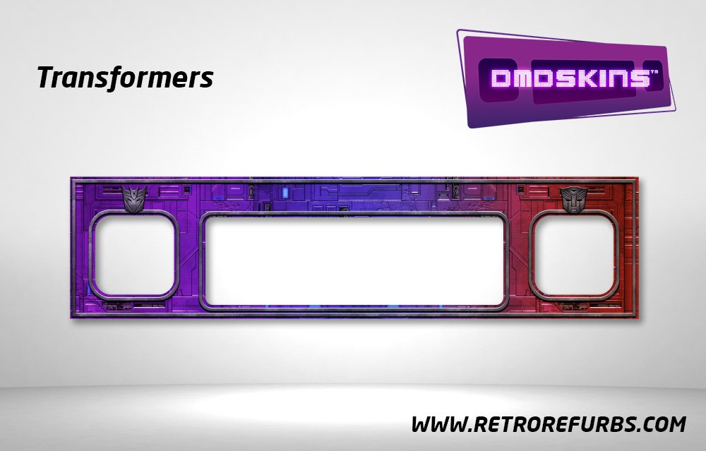 Transformers Pinball DMDSkin Speaker Panel Overlay DMD Artwork Decal