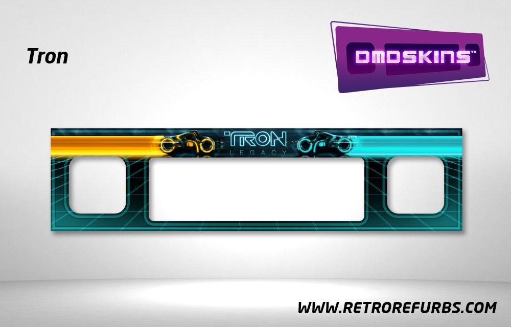 Tron Legacy Pinball DMDSkin Speaker Panel Overlay DMD Artwork Decal