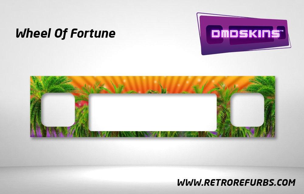 Wheel Of Fortune Pinball DMDSkin Speaker Panel Overlay DMD Artwork Decal
