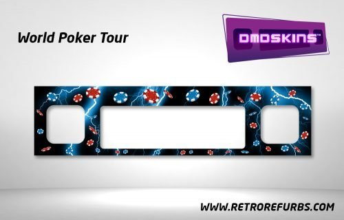 World Poker Tour Pinball DMDSkin Speaker Panel Overlay DMD Artwork Decal