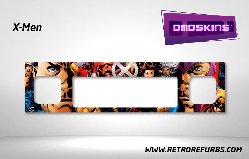 X-Men Pinball DMDSkin Speaker Panel Overlay DMD Artwork Decal