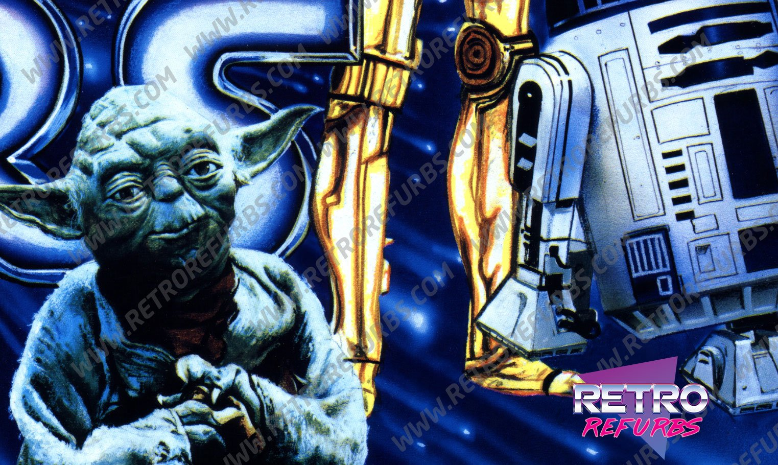 Data East Star Wars Pinball Translite Closeup 1