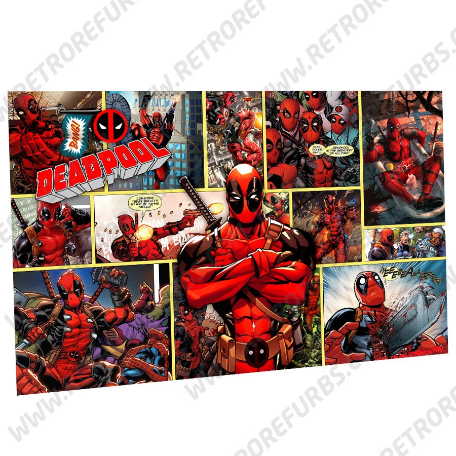Deadpool Alternate Pinball Translite Backglass Flipper Display by Retro Refurbs