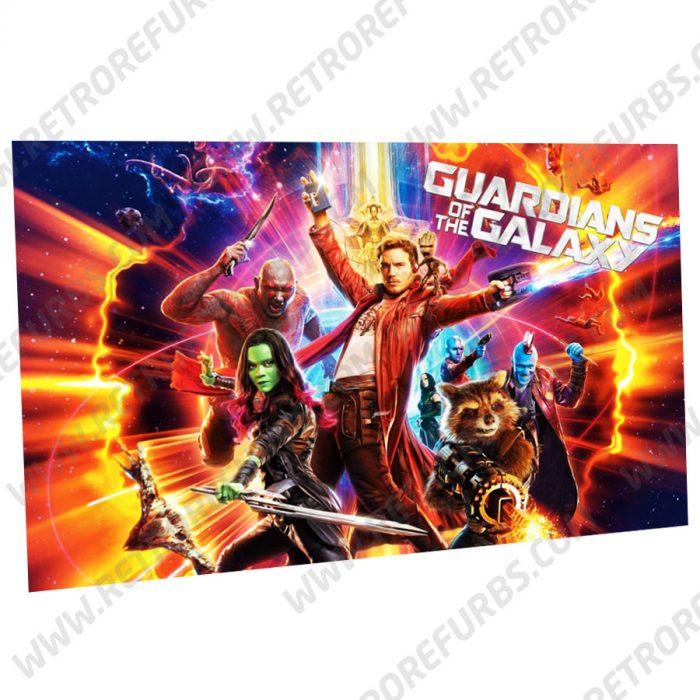 Guardians of the Galaxy Alternate Pinball Translite Backglass Flipper Display by Retro Refurbs