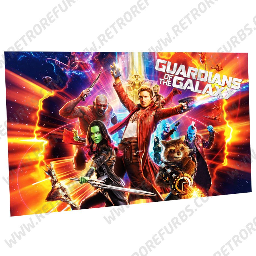 Guardians of the Galaxy Alternate Pinball Translite Backglass Flipper Display by Retro Refurbs