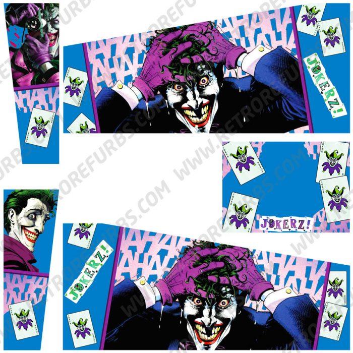 Jokerz Joker Comic Alternate Pinball Cabinet Decals Flipper Side Art