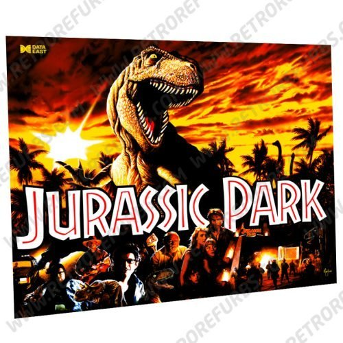 Jurassic Park Data East Pinball Translite Original Design Flipper Backglass