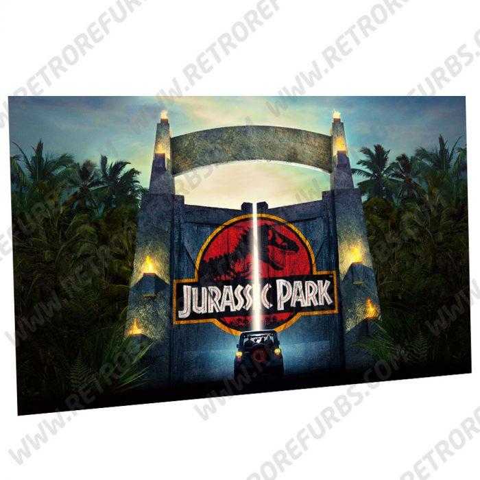 Stern Jurassic Park Gate Alternate Pinball Translite Backglass Flipper Display by Retro Refurbs