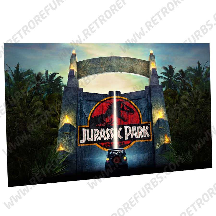Stern Jurassic Park Gate Alternate Pinball Translite Backglass Flipper Display by Retro Refurbs